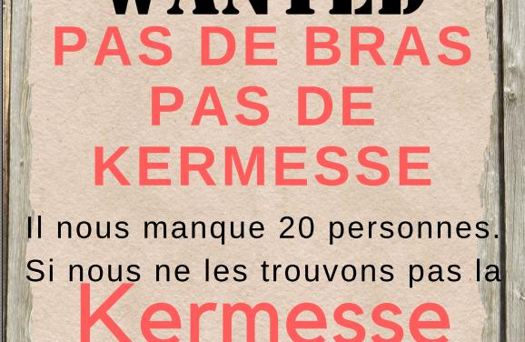 URGENT : l'APEL recherche des volontaires pour l'organisation de la kermesse.