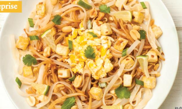 Chronique culinaire : décembre 2018 – Pad thaï au tofu.