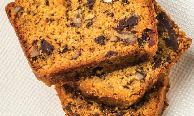 Les chroniques culinaires janvier 2019 : Cake aux zestes d'orange et au chocolat.