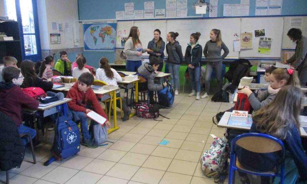 Sortie des CM2, encadrée par des élèves de BTS du Lycée Drôme Provençale