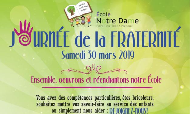 Matinée de la Fraternité «Ensemble, œuvrons pour réenchanter notre école».