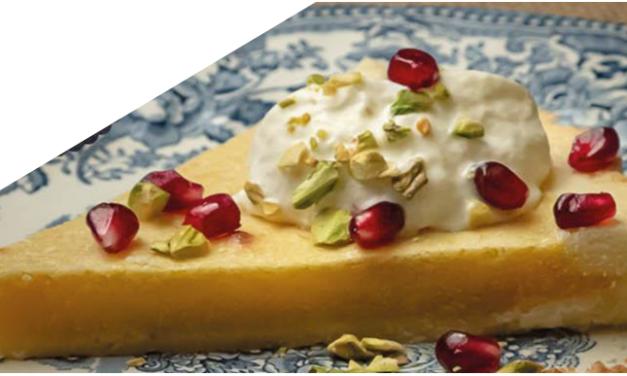 Les chroniques culinaires novembre 2019 : Tarte amandine à l'orange et au thé.