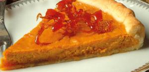 Les chroniques culinaires mars 2020 : Tarte à la patate douce caramélisée.