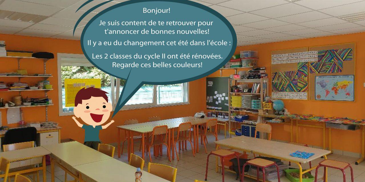 Travaux d'été : Rénovation des classes du cycle II & des WC des classes de maternelle